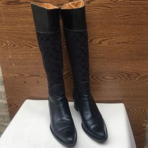 6fd08553b88 Coach Olivia C's Jacquard & Leather Cowboy Boots 9
